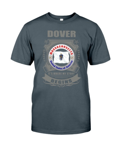 I love Dover-MA flag gifts Shirt