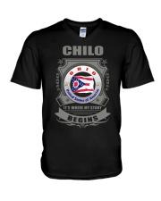 I love Chilo-OH flag gifts Shirt V-Neck T-Shirt thumbnail