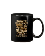 Don't flirt with me i love my girl Mug thumbnail