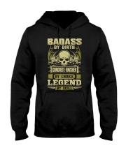 Badass By Birth Concrete Finisher By Choicce legen Hooded Sweatshirt front