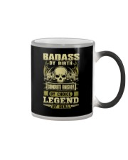 Badass By Birth Concrete Finisher By Choicce legen Color Changing Mug tile