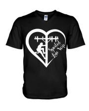 Spoiled Line Wife V-Neck T-Shirt thumbnail
