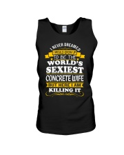 Concrete Wife But Here I Am Killing It Unisex Tank thumbnail