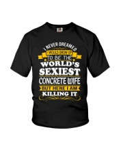 Concrete Wife But Here I Am Killing It Youth T-Shirt thumbnail