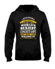 Concrete Wife But Here I Am Killing It Hooded Sweatshirt thumbnail