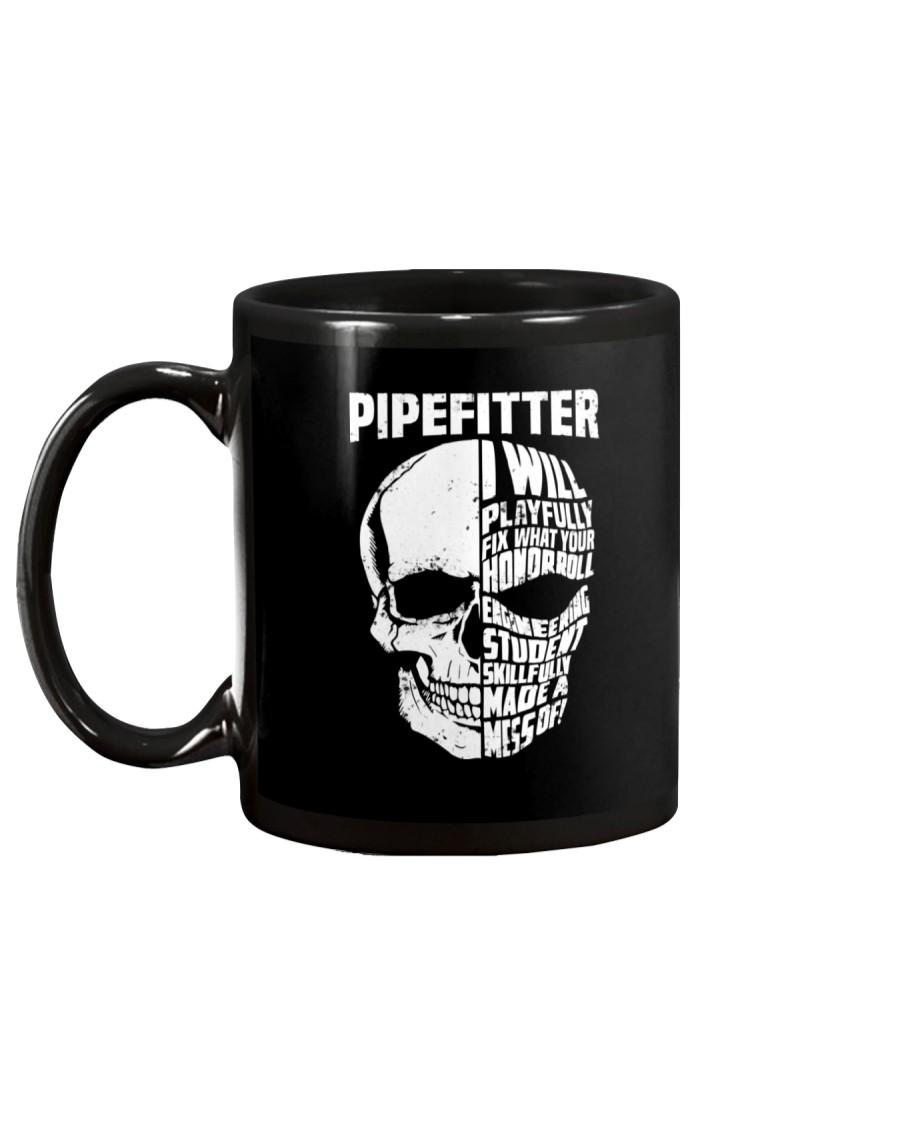 Pipefitter Skull Mug