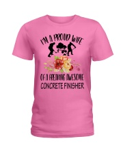 I'm a proud Wife of a freaking awesome Concrete Ladies T-Shirt front
