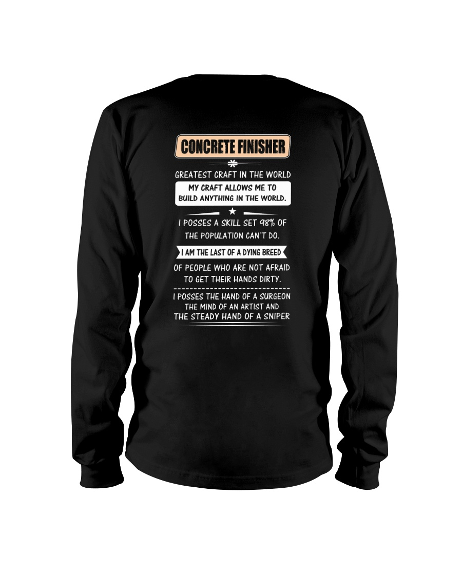 Concrete Greatest Craft In The World Long Sleeve Tee