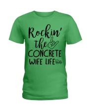 Rockin the Concrete Wife Ladies T-Shirt front