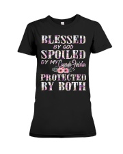 Blessed by God Spoiled By My Concrete Finisher Premium Fit Ladies Tee tile
