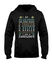 i am a caregiver Hooded Sweatshirt front