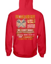 Plumber I Can Fix That Hooded Sweatshirt back