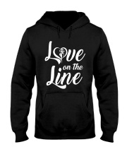 Love on the Line Hooded Sweatshirt front
