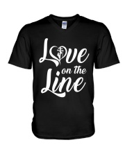 Love on the Line V-Neck T-Shirt thumbnail