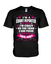 I am A Court Reporter Of Course V-Neck T-Shirt thumbnail