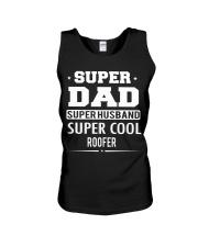 Super Dad Super Husband Super Cool Roofer Unisex Tank thumbnail