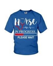 Nurse In Progress Please Wait Youth T-Shirt front