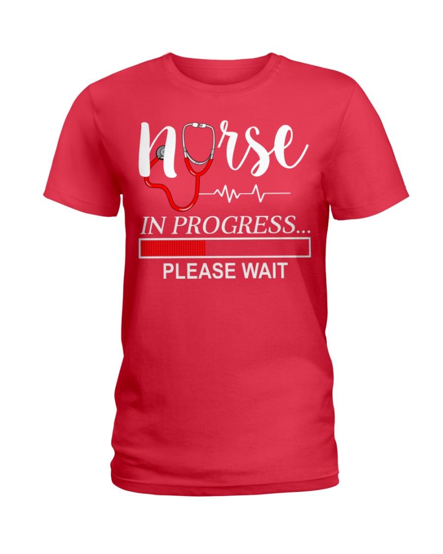 Nurse In Progress Please Wait Ladies T-Shirt