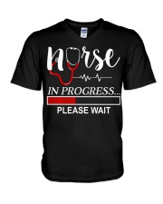 Nurse In Progress Please Wait V-Neck T-Shirt thumbnail