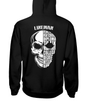 Lineman Skull Hooded Sweatshirt back
