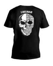 Lineman Skull V-Neck T-Shirt thumbnail