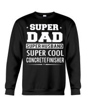 Super Dad Super Husband Super Cool Concrete  Crewneck Sweatshirt thumbnail