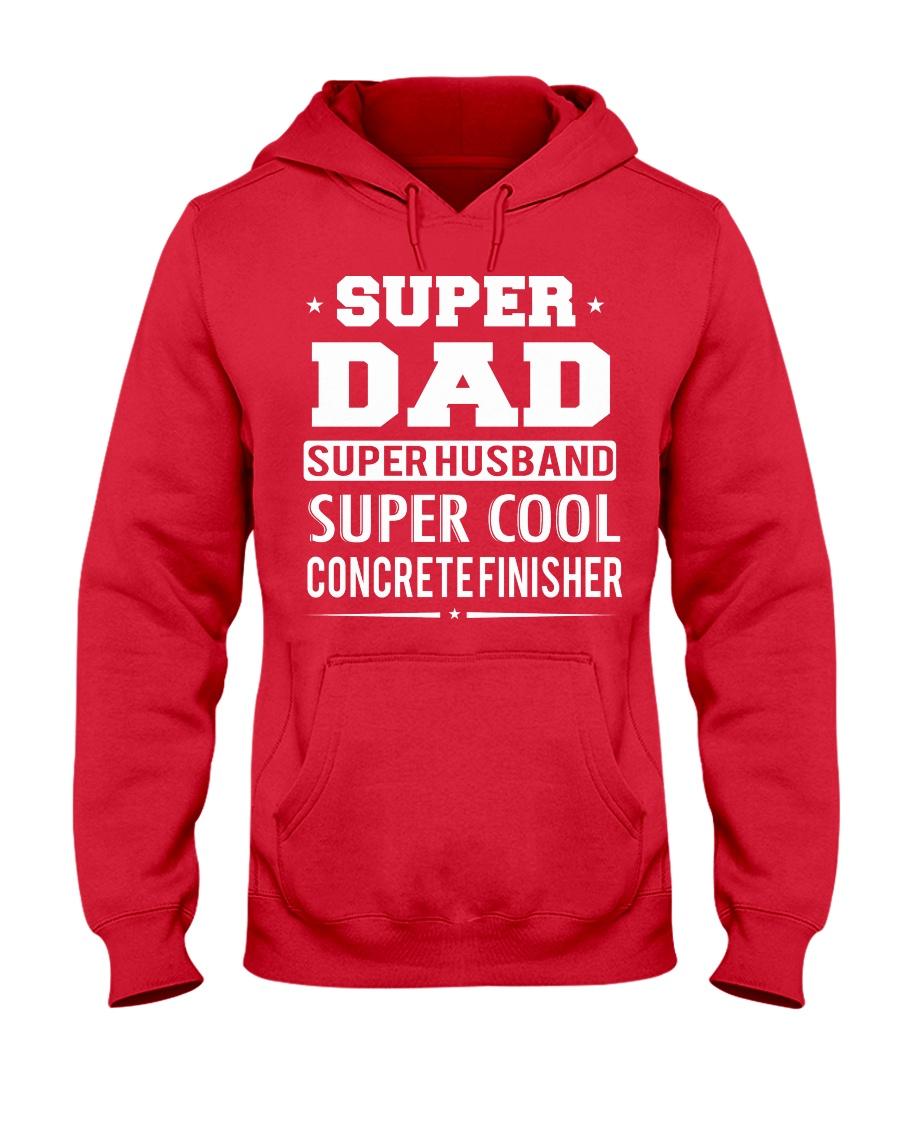 Super Dad Super Husband Super Cool Concrete  Hooded Sweatshirt