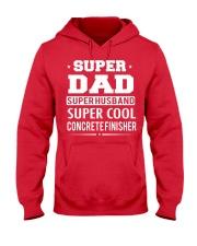 Super Dad Super Husband Super Cool Concrete  Hooded Sweatshirt front