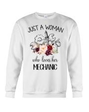 Just a woman who loves her Mechanic Crewneck Sweatshirt thumbnail