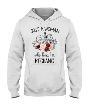Just a woman who loves her Mechanic Hooded Sweatshirt thumbnail