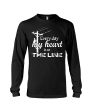 Every day my heart is on the line Long Sleeve Tee thumbnail