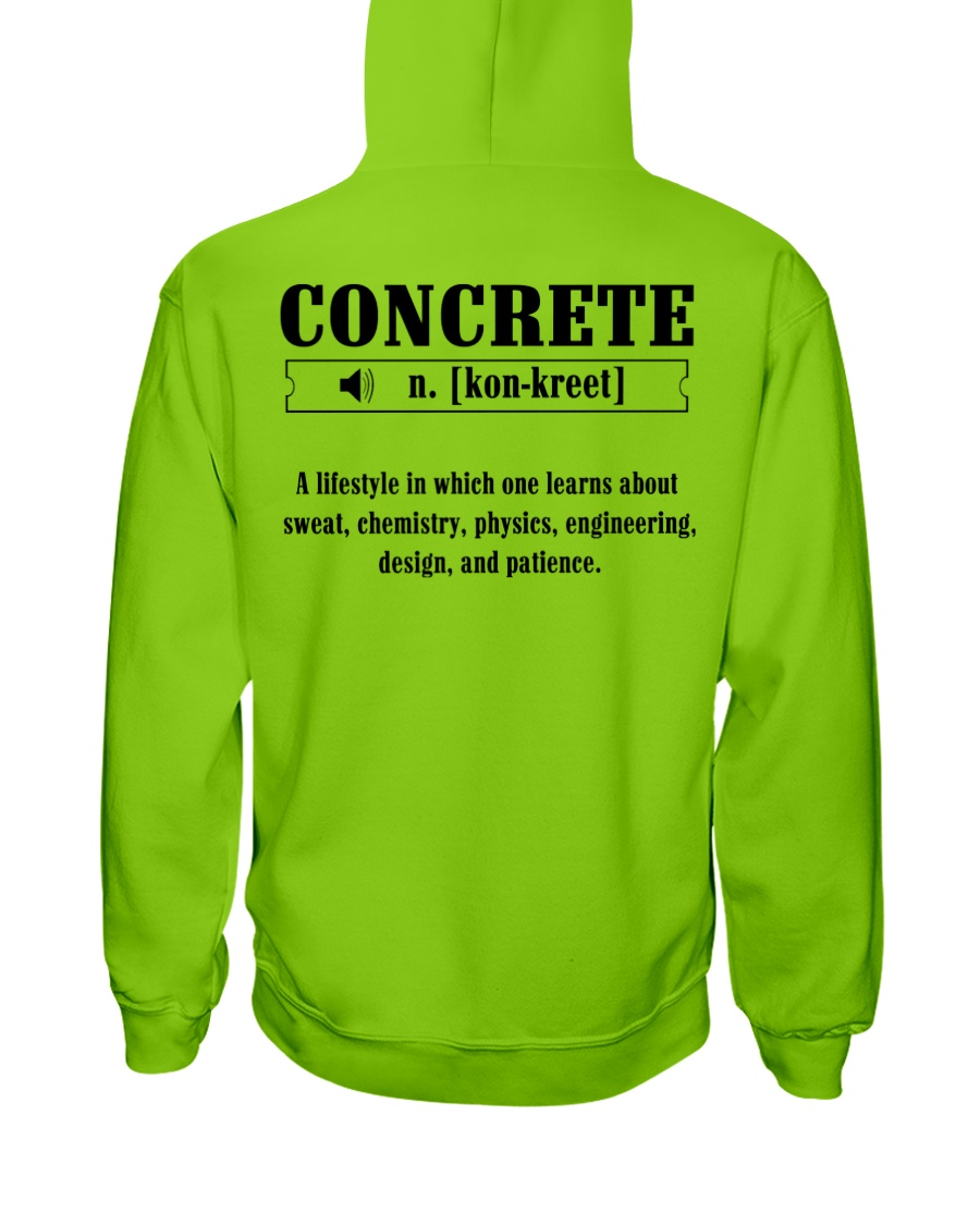 LIMITED CONCRETE FINISHER SHIRT Hooded Sweatshirt