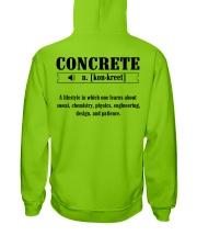 LIMITED CONCRETE FINISHER SHIRT Hooded Sweatshirt back