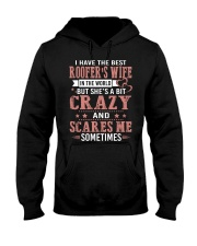 I Have The Best Roofer's wife In The World Hooded Sweatshirt front