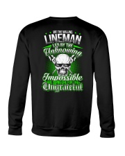 We the willing Lineman led by the unknowing Crewneck Sweatshirt thumbnail