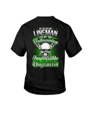 We the willing Lineman led by the unknowing Youth T-Shirt thumbnail