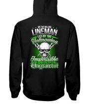 We the willing Lineman led by the unknowing Hooded Sweatshirt back