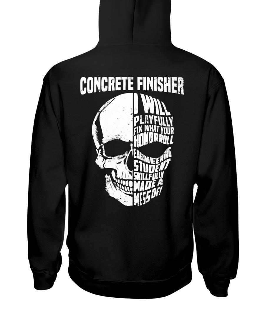 Concrete Finisher Skull Hooded Sweatshirt