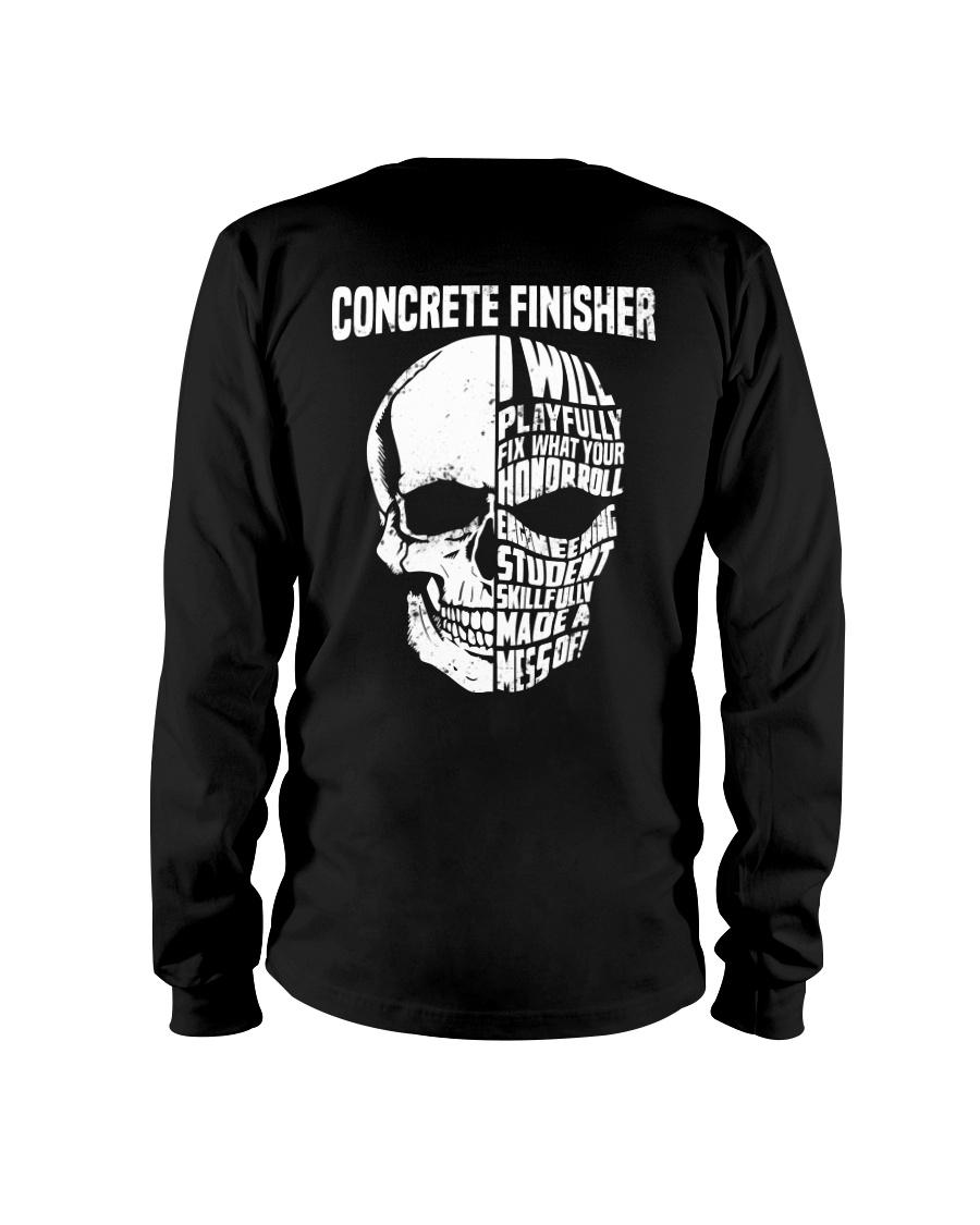 Concrete Finisher Skull Long Sleeve Tee