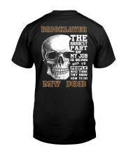 Bricklayer The Hardest Part Of My Job Classic T-Shirt thumbnail