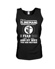 I'm a Lineman i fear god Unisex Tank thumbnail