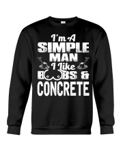 I Like Boobs And Concrete Crewneck Sweatshirt tile
