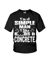 I Like Boobs And Concrete Youth T-Shirt thumbnail