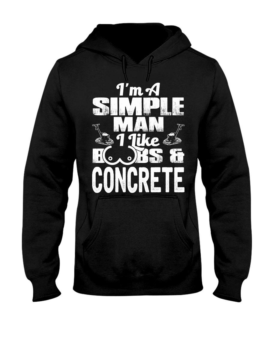 I Like Boobs And Concrete Hooded Sweatshirt
