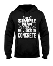 I Like Boobs And Concrete Hooded Sweatshirt thumbnail