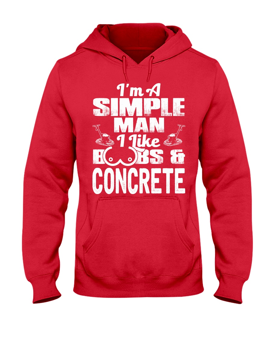 I Like Boobs And Concrete Hooded Sweatshirt