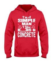 I Like Boobs And Concrete Hooded Sweatshirt front