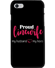 Proud Linewife my husband my hero Phone Case thumbnail
