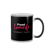 Proud Linewife my husband my hero Color Changing Mug thumbnail
