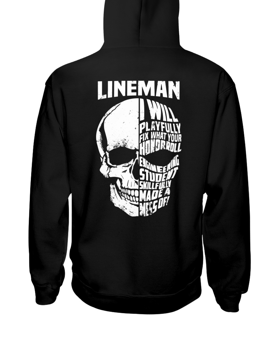 Lineman Skull Hooded Sweatshirt